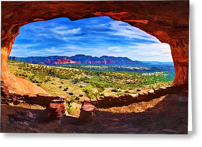 Caves Greeting Cards - Sacred Ground - Shamans Cave Greeting Card by Bill Caldwell -        ABeautifulSky Photography