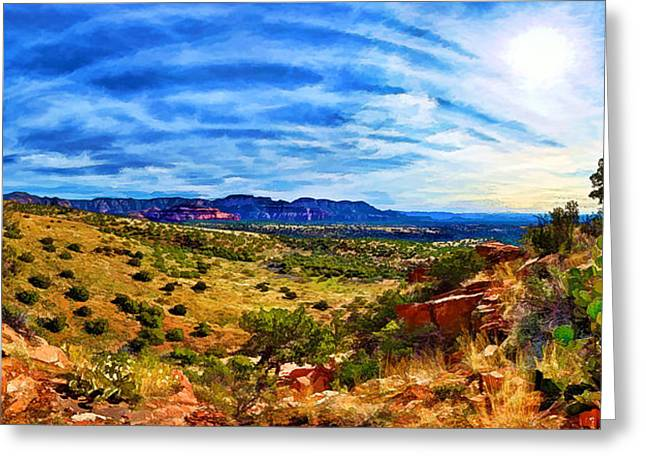 Spirtual Greeting Cards - Sacred Ground - Shamans Cave Trail Greeting Card by Bill Caldwell -        ABeautifulSky Photography