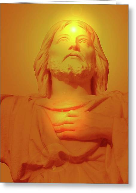 Issa Greeting Cards - Sacred Heart No. 01 Greeting Card by Ramon Labusch