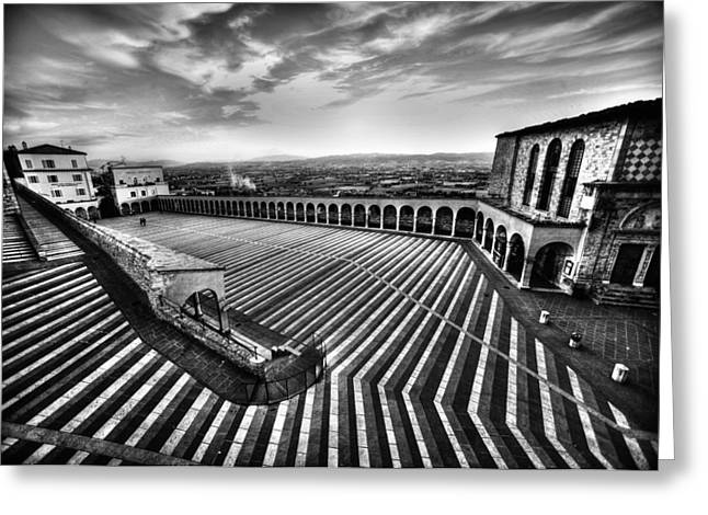 Patterned Greeting Cards - Sacred Lines Greeting Card by Fulvio Pellegrini
