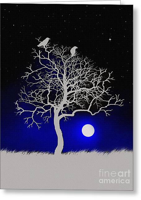 Robert Foster Greeting Cards - Sacred Raven Tree Greeting Card by Robert Foster