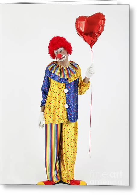 Sad Clown Greeting Card by Rolf Fischer