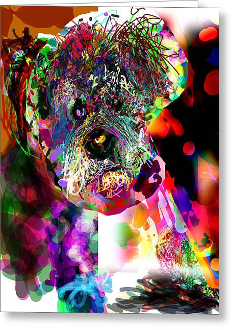 Miniature Effect Greeting Cards - Sad Dog Greeting Card by James Thomas