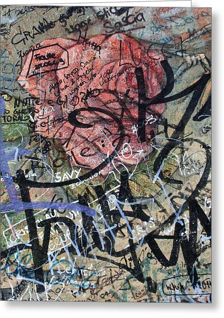 Hauptstadt Greeting Cards - Sad Rose ... Greeting Card by Juergen Weiss