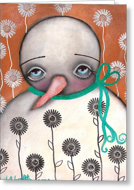 Paiting Greeting Cards - Sad Spring is here Greeting Card by  Abril Andrade Griffith
