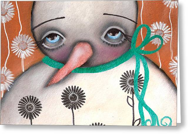 Sad Spring is here Greeting Card by  Abril Andrade Griffith
