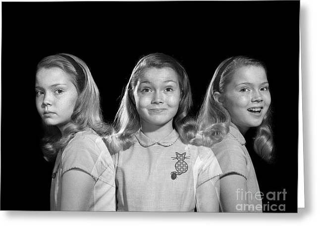 Sad To Happy, Multiple Exposure Image Greeting Card by Debrocke/ClassicStock