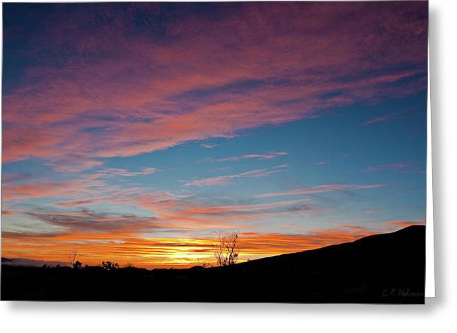 Christopher Holmes Greeting Cards - Saddle Road Sunset Greeting Card by Christopher Holmes