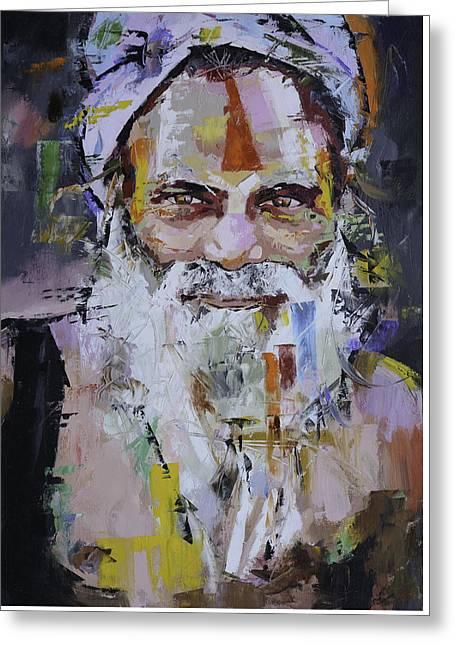 Sadhu Greeting Card by Richard Day