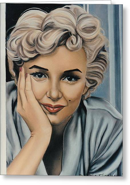 Beauty Mark Greeting Cards - Sadly Beautiful Greeting Card by Debbie Fischer