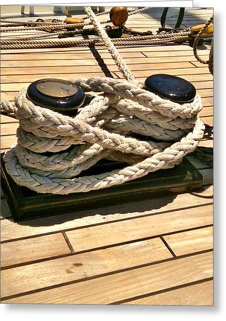 Pirates Greeting Cards - Safe at Port Greeting Card by Kim Derington - Tillman