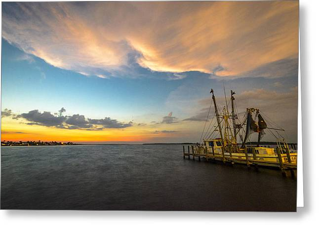 Fishing Boats Greeting Cards - Safe Harbor Greeting Card by Dennis Gingerich