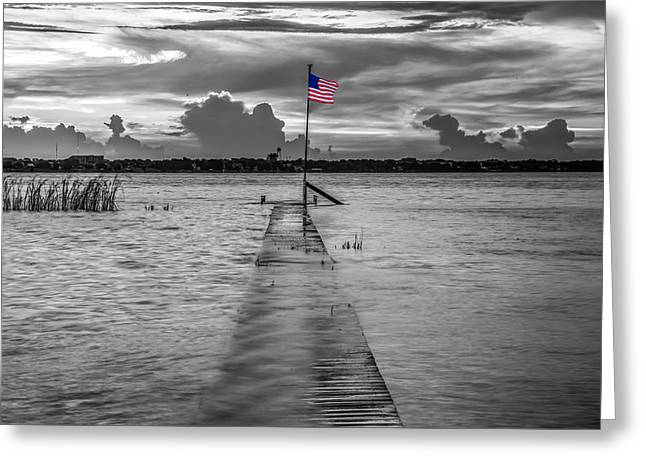 Flags Flying Greeting Cards - Safety in the Storm Greeting Card by Debra and Dave Vanderlaan
