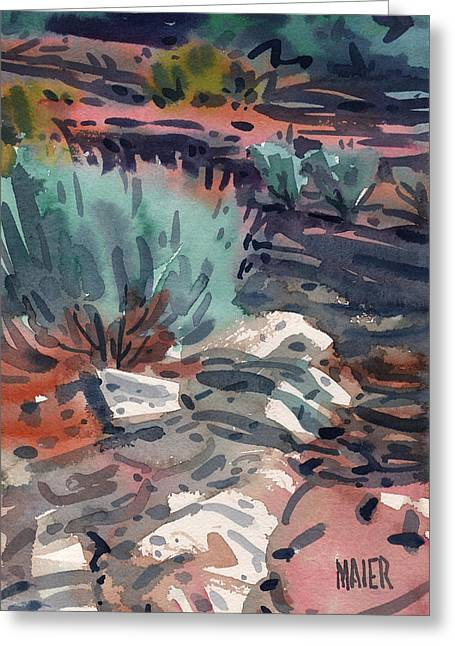 Ground Cover Greeting Cards - Sage and Granite Greeting Card by Donald Maier