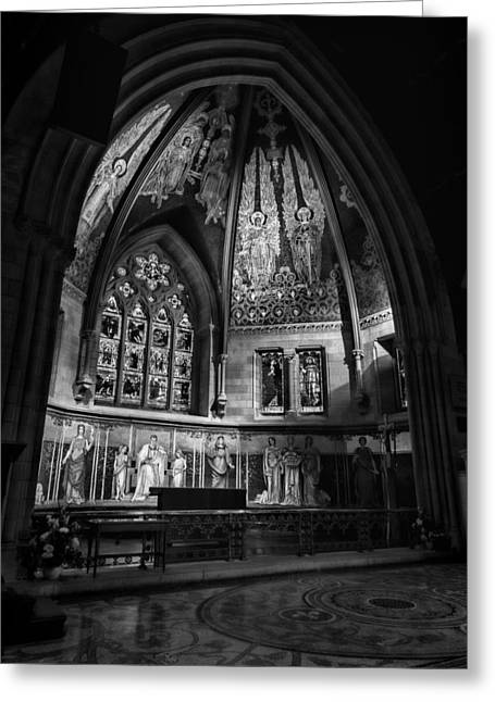 Sage Chapel Altar Greeting Card by Stephen Stookey