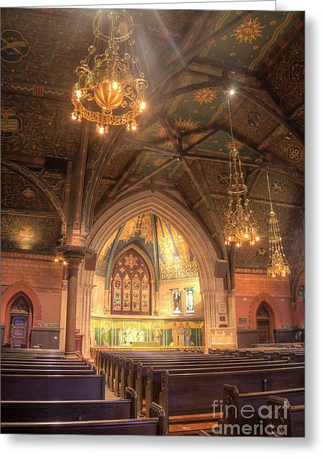 Steffey Greeting Cards - Sage Chapel II Greeting Card by Michele Steffey