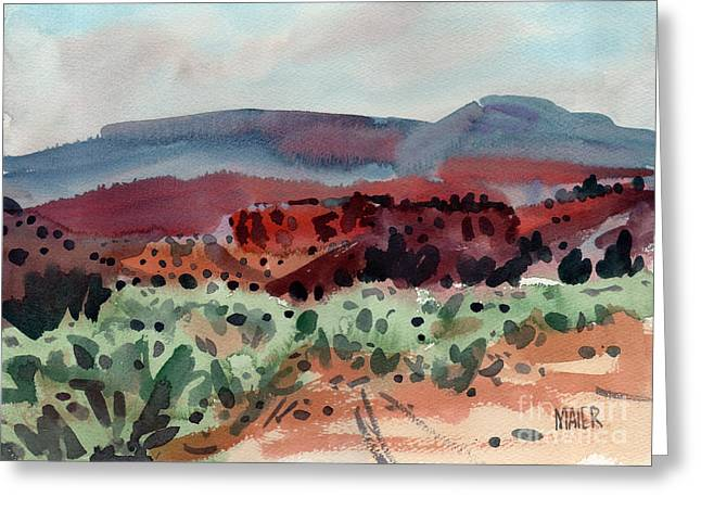Southwestern Landscape Greeting Cards - Sage Sand and Sierra Greeting Card by Donald Maier