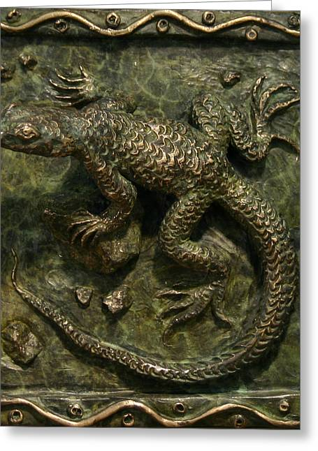 Rocky Mountain Reliefs Greeting Cards - Sagebrush Lizard Greeting Card by Dawn Senior-Trask