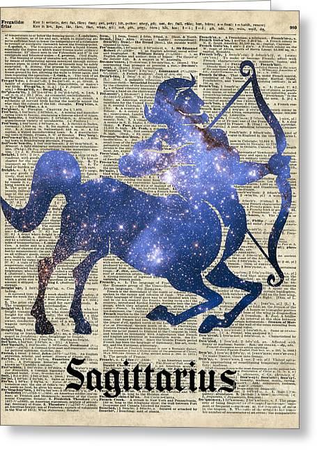 Sagittarius The Centaur Archer  Greeting Card by Jacob Kuch