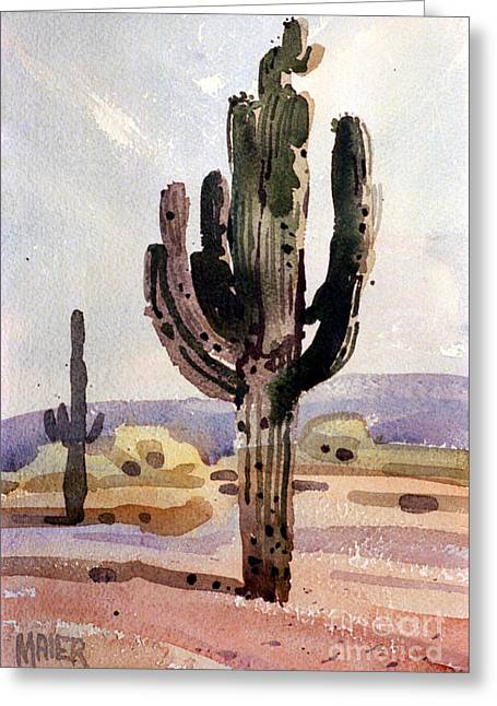 Saguaro Cactus Greeting Cards - Saguaro Cactus Greeting Card by Donald Maier