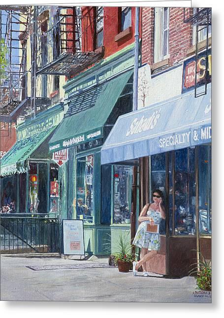 Shopper Greeting Cards - Sahadis Atlantic Avenue Brooklyn Greeting Card by Anthony Butera