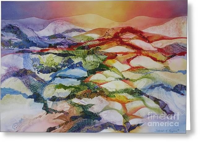 Deb Ronglien Watercolor Greeting Cards - Sahara Greeting Card by Deborah Ronglien