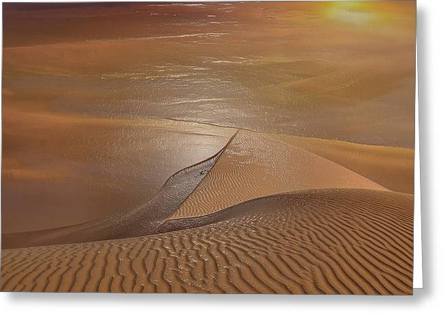 Sahara Sunlight Greeting Cards - Sahara Sands Greeting Card by Scott Mendell