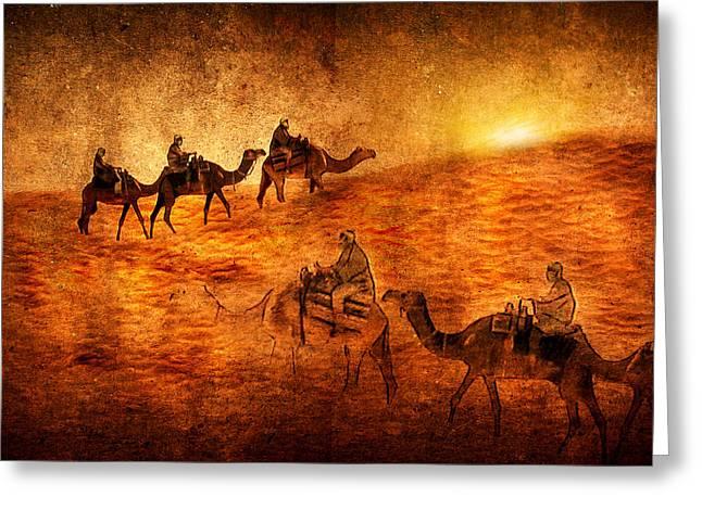 Sahara Greeting Card by Svetlana Sewell