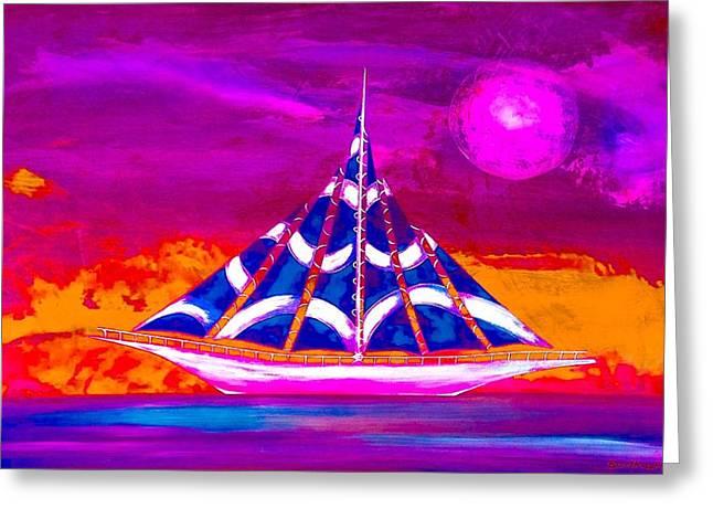 Sailing Ship Greeting Cards - Sail Away 2 Greeting Card by Barry Knauff