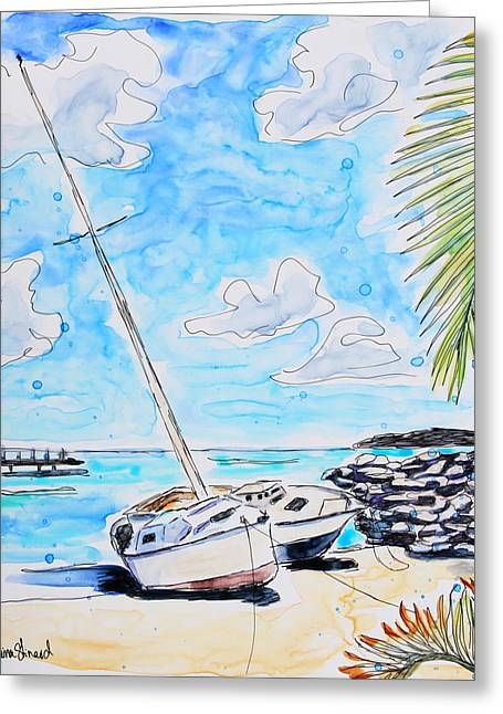 Sail Away Greeting Card by Shaina Stinard