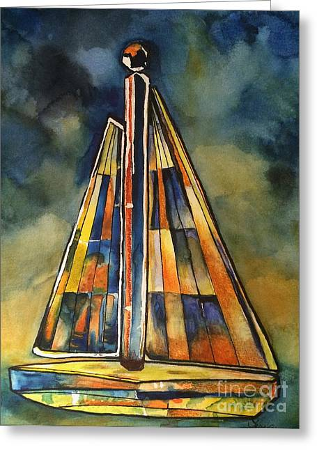 Sailboat Photos Paintings Greeting Cards - Sail Away Greeting Card by Terri Thompson