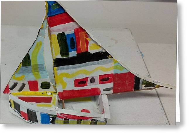 Sized Sculptures Greeting Cards - Sail boat Greeting Card by William Douglas