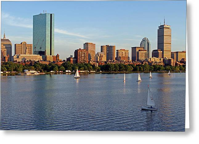 Charles River Greeting Cards - Sail Boston Greeting Card by Juergen Roth