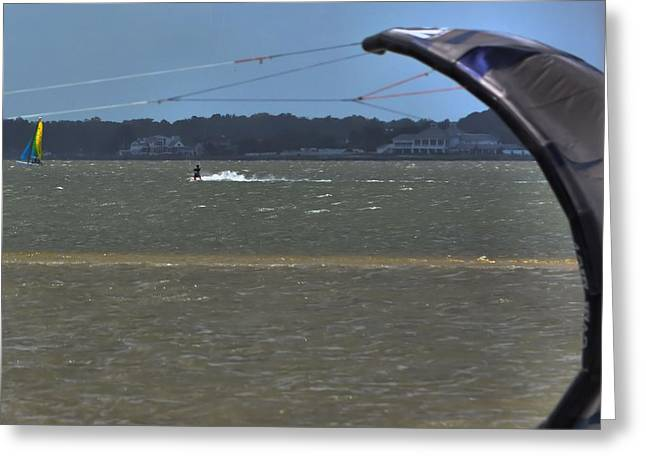 Kiteboarding Greeting Cards - Sail Fam Reunion Greeting Card by Robert McCubbin