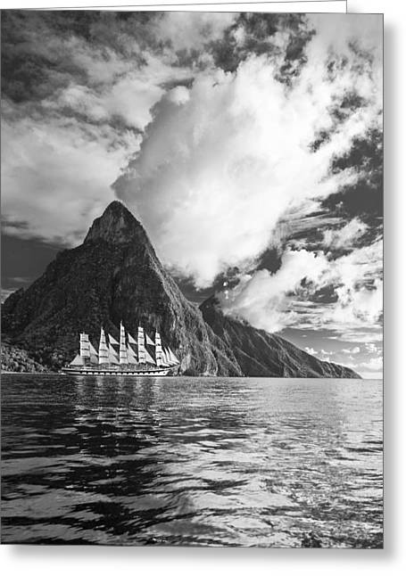 Sailboats In Water Greeting Cards - Sail On II Greeting Card by Jon Glaser