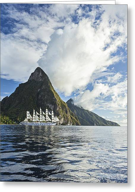 Sailboats In Water Greeting Cards - Sail On Greeting Card by Jon Glaser