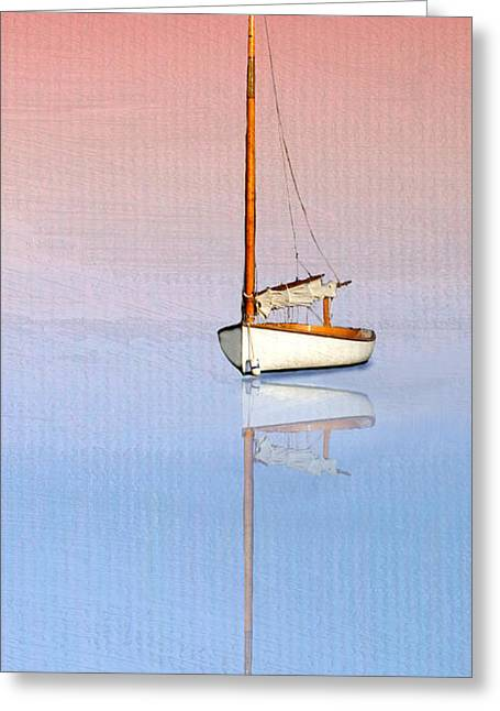 Beetle Cat Greeting Cards - Sail To Serenity Greeting Card by Michael Petrizzo
