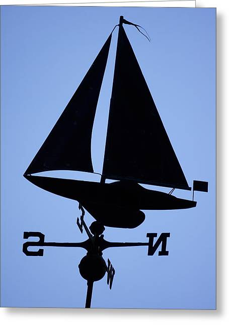 Weathervane Greeting Cards - Sail To The Sun Greeting Card by Ira Shander