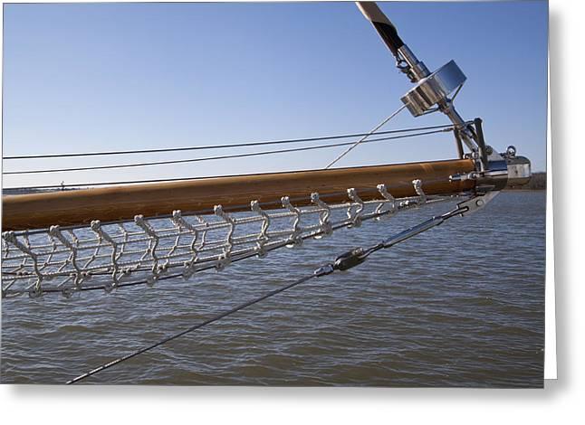 Sailboat Bowsprit Greeting Card by Dustin K Ryan