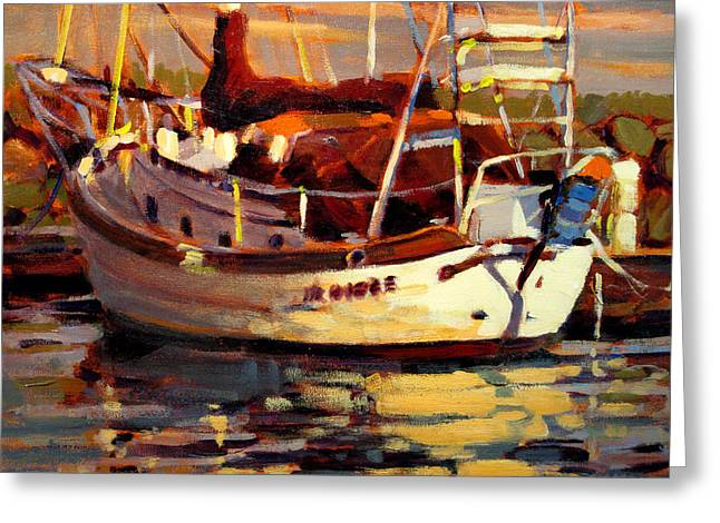 Sailboat Greeting Card by Brian Simons