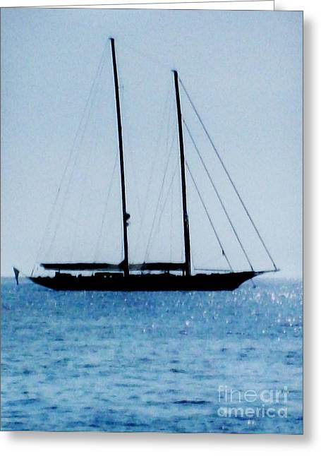 Sailboat Photos Greeting Cards - Sailboat Without Sales Up Greeting Card by Marsha Heiken