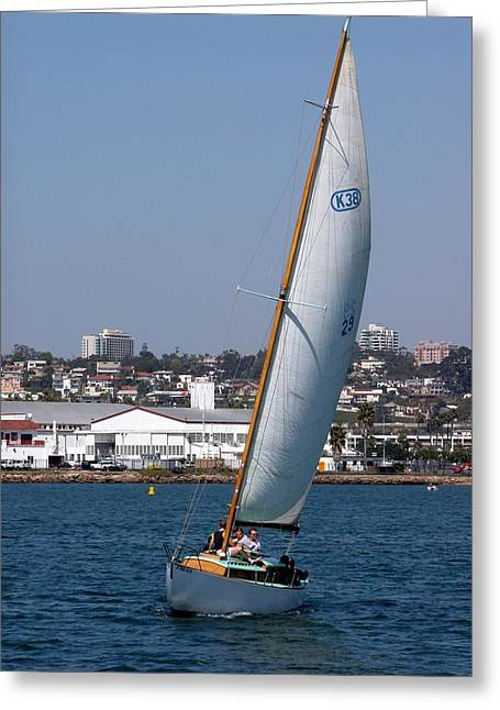Sailboat Greeting Cards - Sailboats 8 Greeting Card by Joseph R Luciano