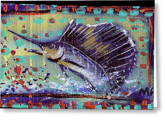 Sailfish Greeting Card by Robert Wolverton Jr