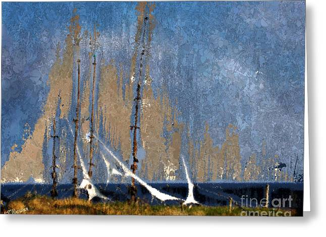 Sailing Greeting Card by Arne Hansen