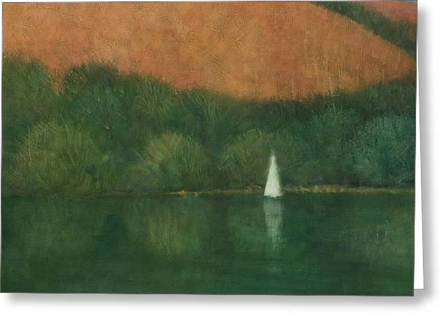 Cornwall Greeting Cards - Sailing at Trelissick Greeting Card by Steve Mitchell