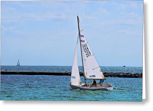 Sailboat Images Greeting Cards - Sailing Greeting Card by Carol Deltoro