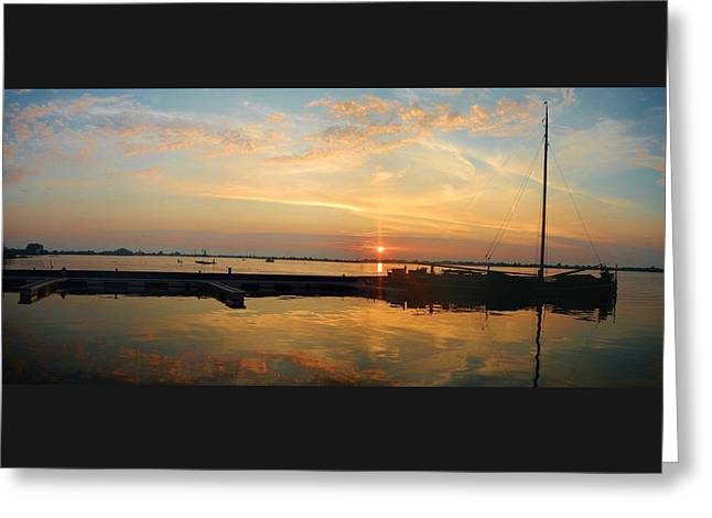 Docked Sailboats Greeting Cards - Sailing Clouds Greeting Card by Danica Stewart