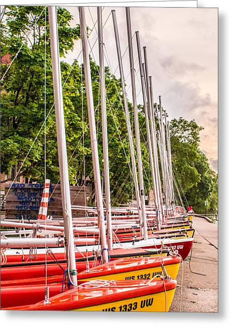 Lake Mendota Greeting Cards - Sailing Club - University of Wisconsin Greeting Card by Christopher Nelms