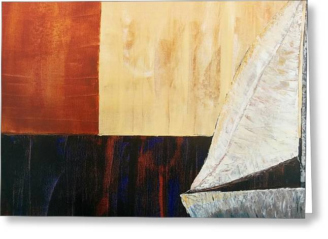 Pallet Knife Greeting Cards - Sailing Decor 4 Greeting Card by Shari Monner