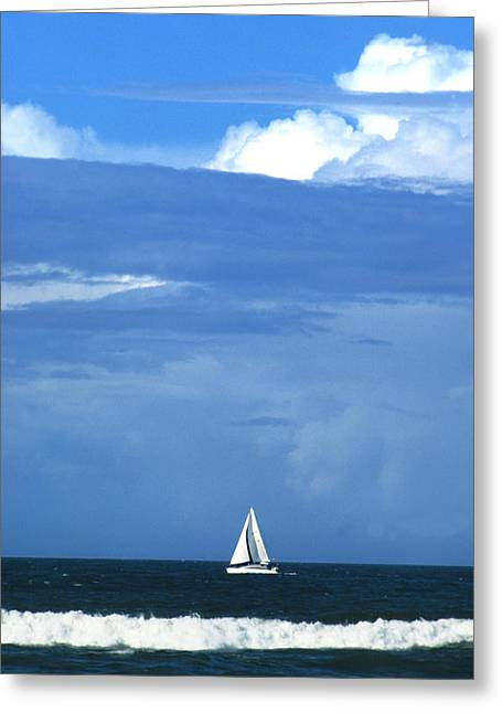 Beach Greeting Cards - Sailing Greeting Card by Don Mennig